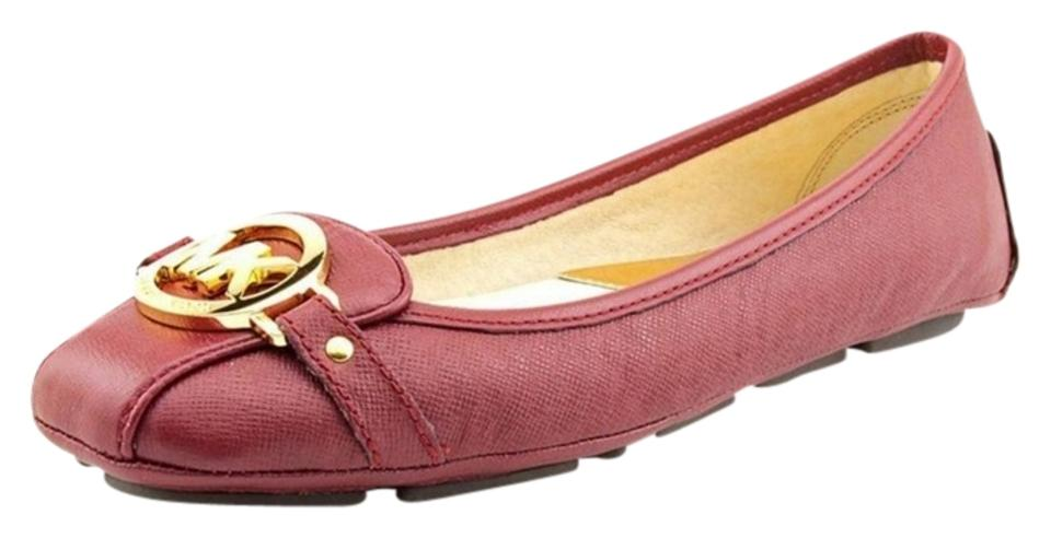 f4cf99655b88 Michael Kors Mk Womens Fulton Loafers Mocs Driving Moc Moccasin Moccassins  Saffiano Wine Red Red Leather ...