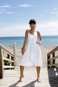 White Maxi Dress by Lirome Resort Nautical