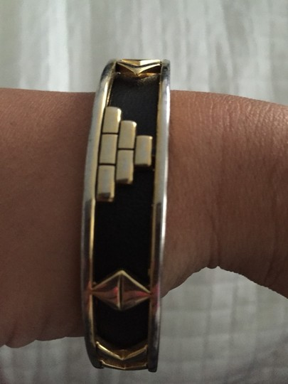 House of Harlow 1960 House of Harlow Black And Gold Aztec Bracelet