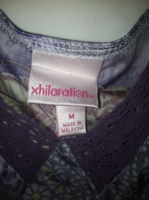 xhilaration Top Multi colored - mostly lavendar / purple