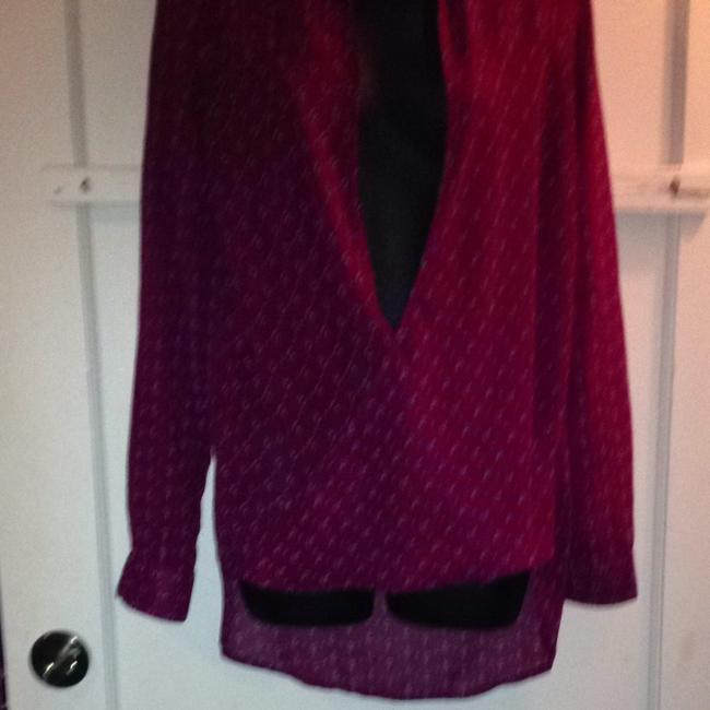 Other Top Burgundy With Pink /purple