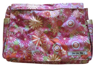 Ju Ju Be Nylon Flowers New Ju Ju Be Be Cool Zany Zinnias Diaper Bag