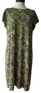 Daisy Fuentes short dress Green and Purple Camo Print on Tradesy