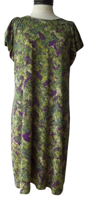 Preload https://item1.tradesy.com/images/daisy-fuentes-dress-green-and-purple-camo-print-3560740-0-0.jpg?width=400&height=650