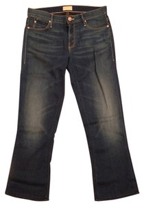 Mother Capri/Cropped Denim-Medium Wash