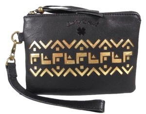 Lucky Brand Wristlet in Black Gold