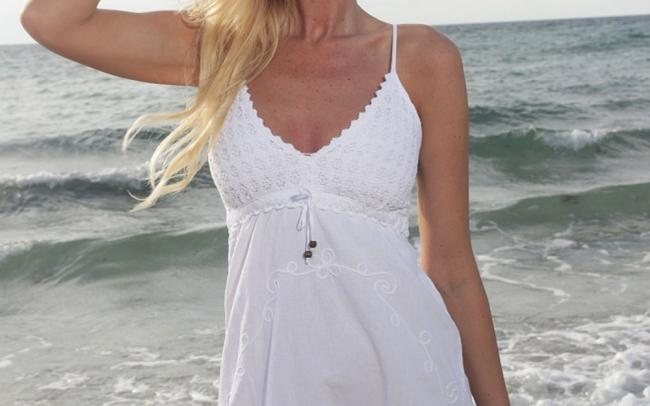 Lirome short dress White Embroidered Crochet on Tradesy