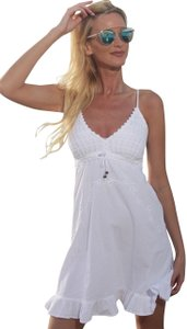Lirome short dress White Crochet Embroidered Summer on Tradesy