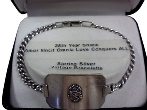 Vintage 925 Sterling Silver 25th anniversary ID Bracelet