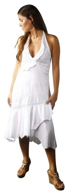 White Maxi Dress by Lirome Ibicenco Cottage Chic Resort Embroidered
