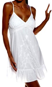 Lirome short dress White Embellished Embroidered Resort Vacation on Tradesy