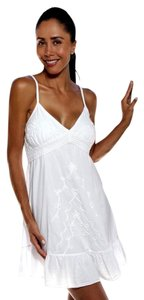 Lirome short dress White Summer Embroidered Resort on Tradesy