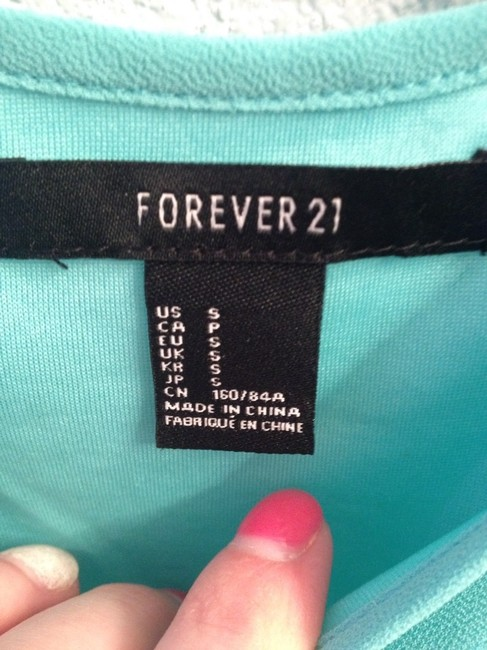 Forever 21 short dress Aqua/navy on Tradesy