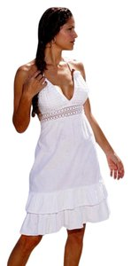 Lirome short dress White Halter Summer Beach Resort on Tradesy