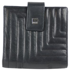 Bally Bally Bi Fold Wallet with Coin Purse - Black