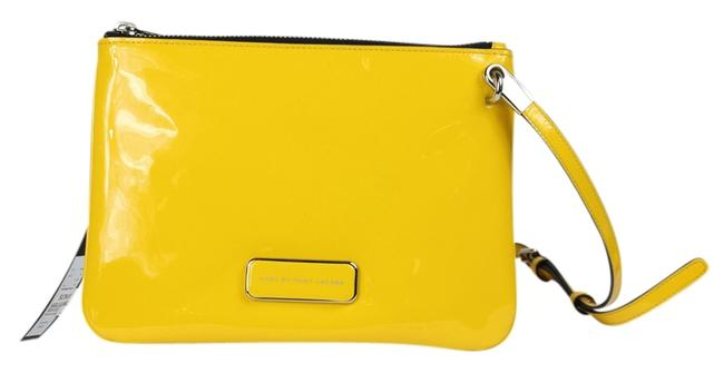 Item - 'ligero Novelty Double Percy' Yellow Patent Leather Cross Body Bag