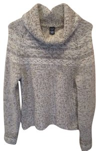 Gap Cowl Brown Off White Longsleeve Sweater