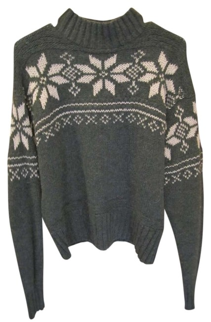 American Eagle Outfitters Snow Flake Wool Fair Isle Sweater