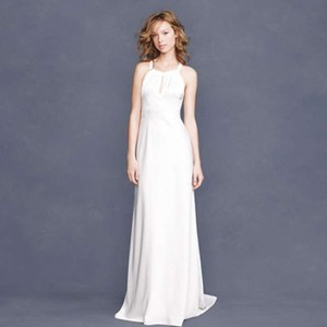 J.Crew Ivory Other Bettina Gown Item 69879 Casual Wedding Dress Size 8 (M)