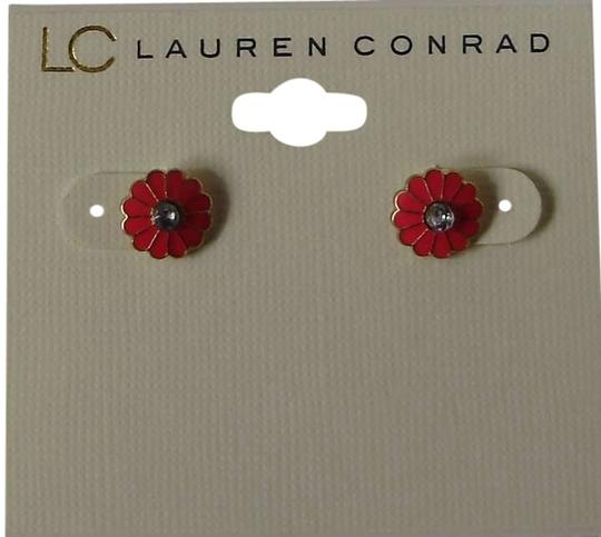 LC Lauren Conrad Pink Flower Stud Earrings