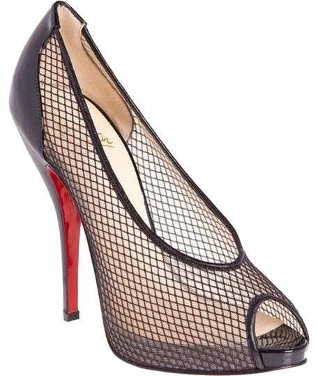 Preload https://item1.tradesy.com/images/christian-louboutin-black-patent-leather-fishnet-peep-pumps-size-us-8-regular-m-b-3562435-0-0.jpg?width=440&height=440