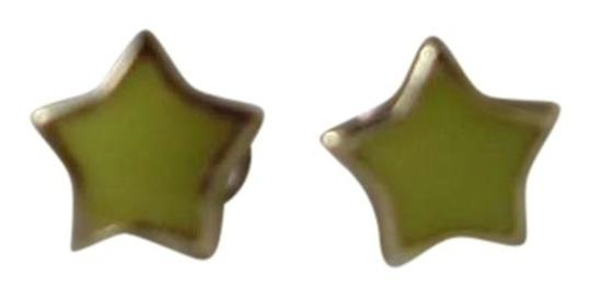 SO Yellow Star Stud Earrings