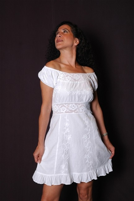 Lirome short dress White Lace Sexy Chic Embroidered on Tradesy