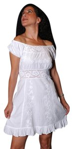 Lirome short dress White Tea Length on Tradesy
