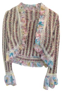 One Girl Who Anthropologie Summer Sweater multicolor Jacket