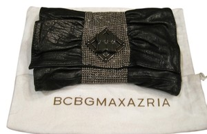 BCBGMAXAZRIA Black and Metal Clutch