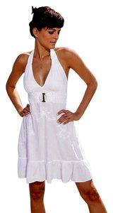 Lirome short dress White Boho Unique Embroidered Beach on Tradesy