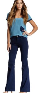 MiH Jeans Bell Bottom High Waisted Boho Flare Leg Jeans-Dark Rinse