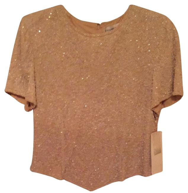 Preload https://item2.tradesy.com/images/adrianna-papell-beige-night-out-top-size-10-m-3564091-0-0.jpg?width=400&height=650