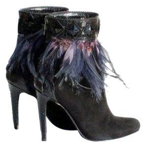 Dior Suede Feathered Snakeskin BLACK Boots
