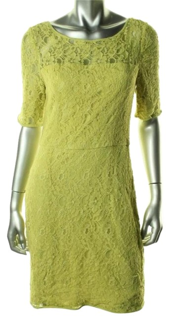 Item - Green New Lace Boatneck Party Above Knee Cocktail Dress Size 6 (S)
