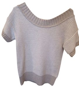 American Eagle Outfitters Stripe White Brown Sweater