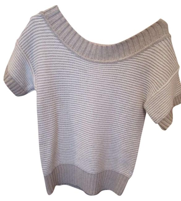 Preload https://item1.tradesy.com/images/american-eagle-outfitters-taupe-stripe-white-brown-sweaterpullover-size-8-m-356480-0-0.jpg?width=400&height=650