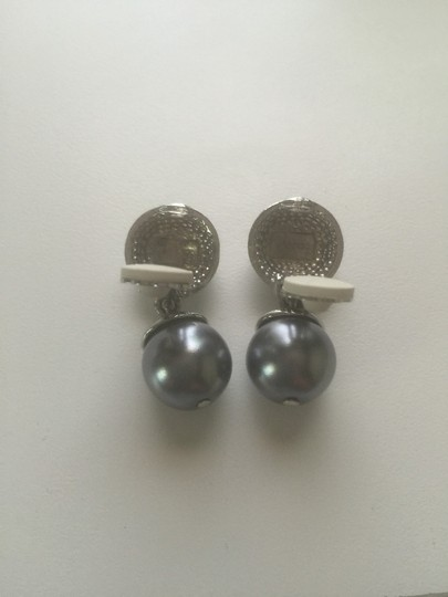 Doncaster Tahitian Pearl Silver With Swarovski. Crystal Earring