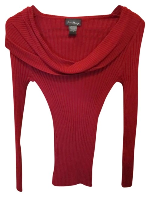 Preload https://item1.tradesy.com/images/love-always-red-fitted-figure-flattering-cowl-sweaterpullover-size-8-m-356490-0-0.jpg?width=400&height=650