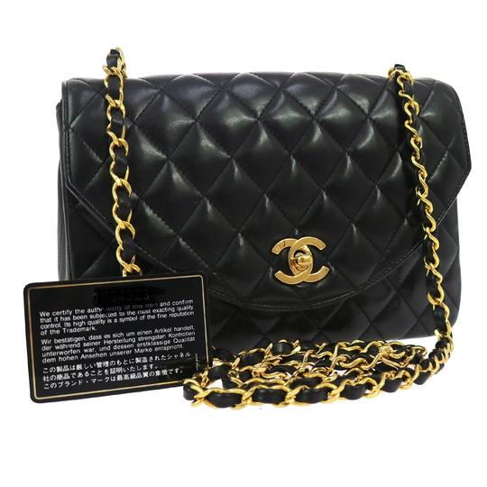 bac0a2af4a00 Chanel Classic Black Quilted Bag. Chanel Classic Flap Cc Quilted Half Moon  Black Lambskin Leather Cross Body Bag - Tradesy