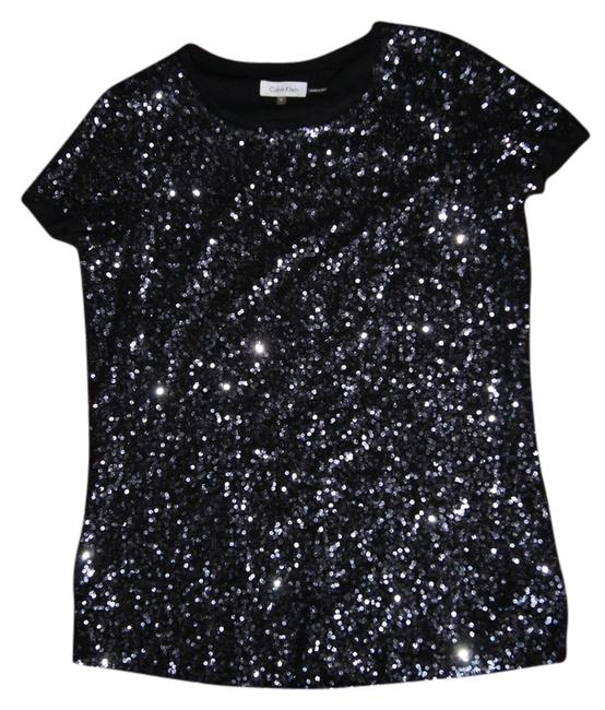 Preload https://item2.tradesy.com/images/calvin-klein-blackcharcoal-sequins-night-out-top-size-8-m-3565786-0-0.jpg?width=400&height=650