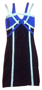 WOW Blue Clubbing Sexy Going Bodycon Bandage Couture Dress