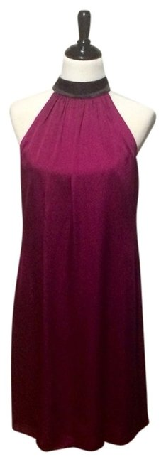 Preload https://item1.tradesy.com/images/laundry-by-shelli-segal-magenta-purple-and-black-cocktail-dress-size-8-m-3566920-0-0.jpg?width=400&height=650