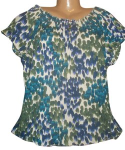 Art and Soul Boho Print Summer Top Blue