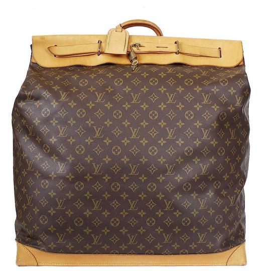 Louis Vuitton Limited Edition Special Order Rare Monogram Luggage Duffle Travel Brown Travel Bag