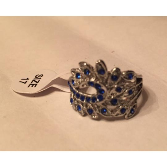 Other Silver plated and Blue stone Peacock ring