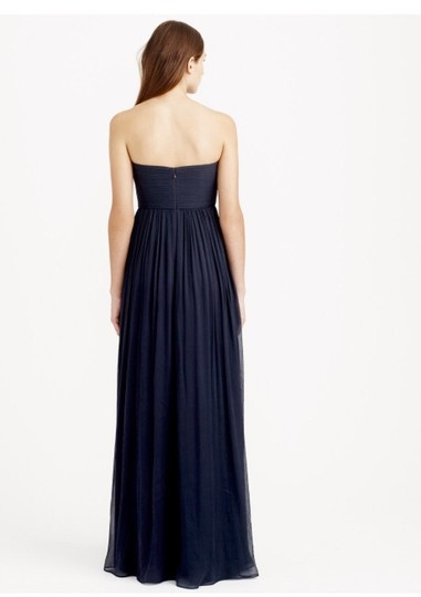 J.Crew Graphite Silk Chiffon Formal Bridesmaid/Mob Dress Size 6 (S)