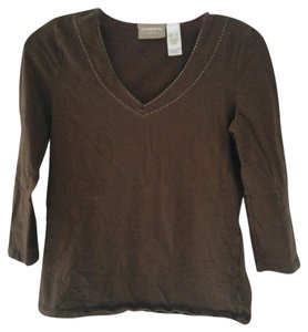 Liz Claiborne Top Brown