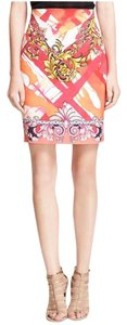 Versace Collection Skirt Pink Multi