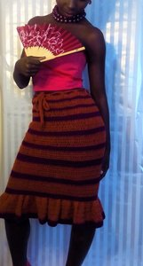 Wura Collection Skirt Orange/Magenta
